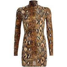 Load image into Gallery viewer, Sassy Gyal Snake Print Mini Dress
