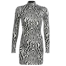 Load image into Gallery viewer, Hot Sass Zebra Print Mini Dress