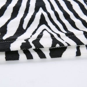Hot Sass Zebra Print Mini Dress