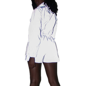 True Sass Reflective Romper Suit