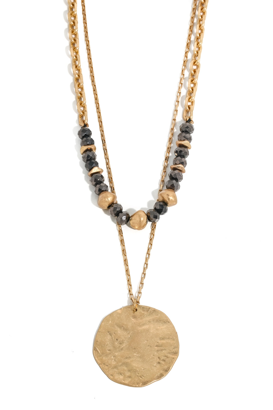 Hammered Layer Necklace
