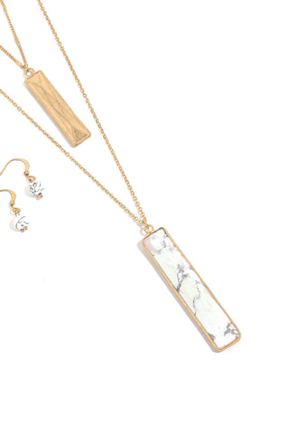 Double Bar Drop Necklace