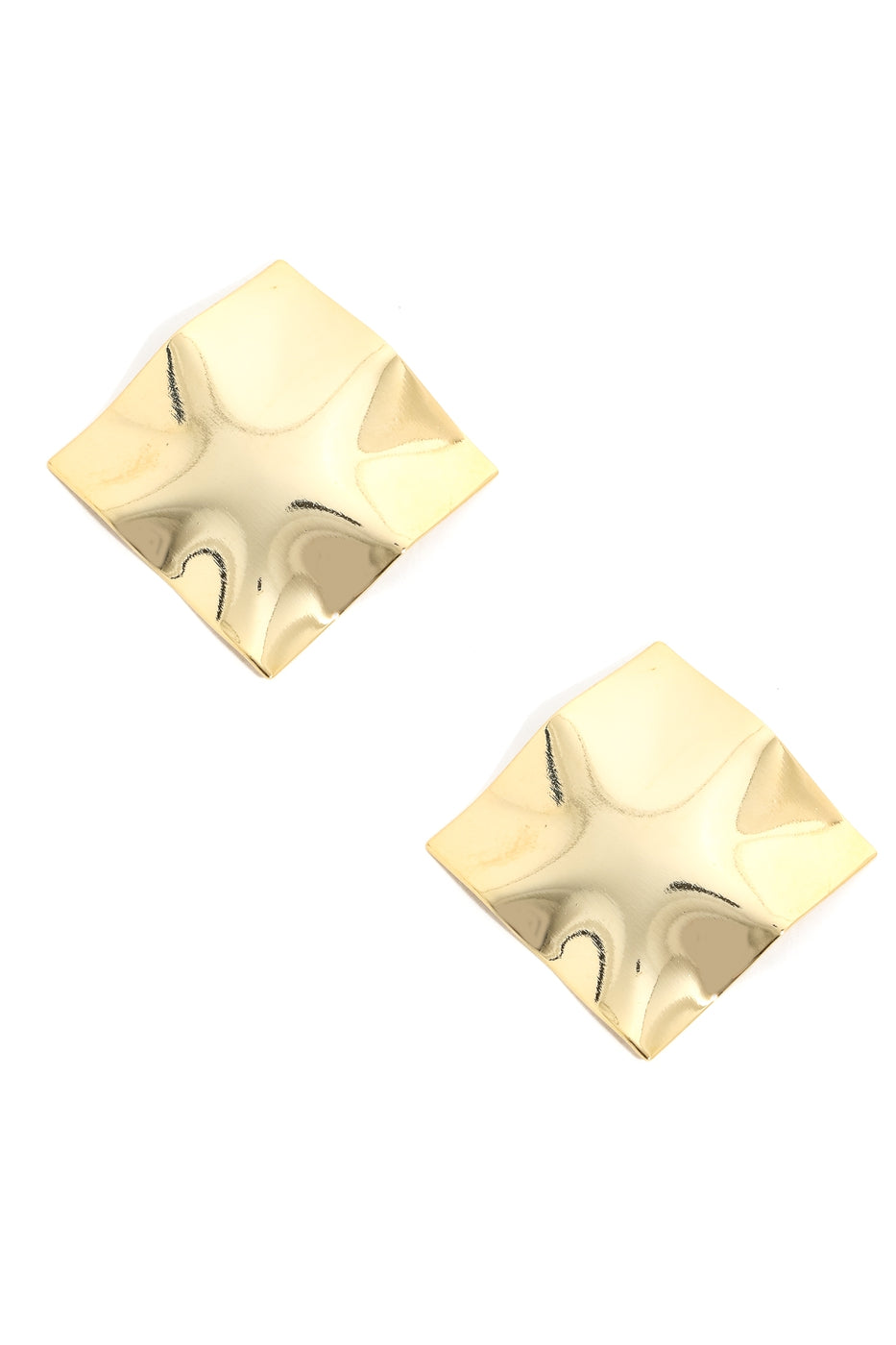 Square Crinkle Foil Earrings