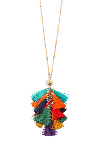 Chain Linked Tassel Necklace