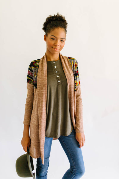 Basic Button Up Top Olive