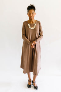 Soft Swing Dress Coffee
