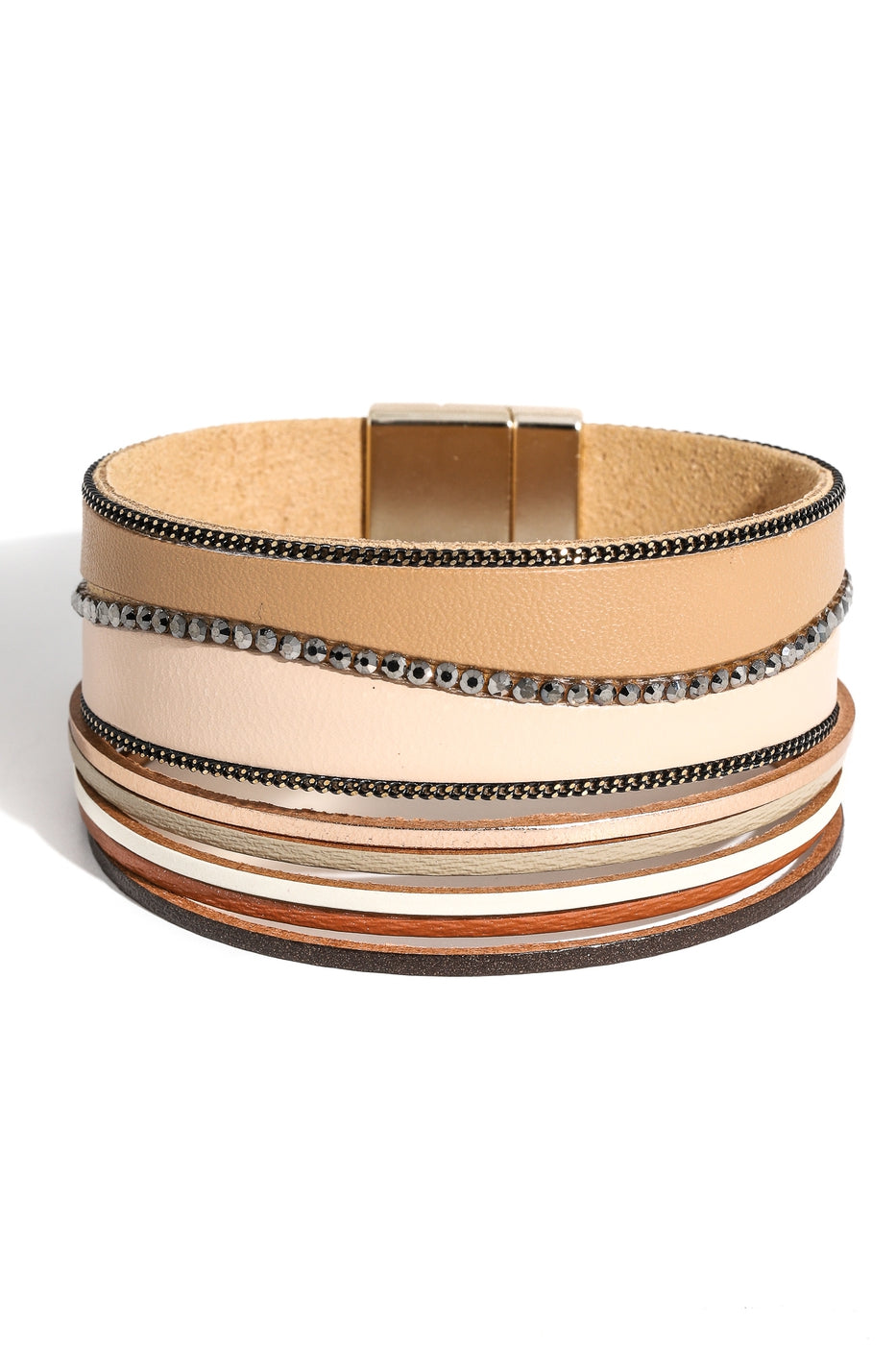 Faux Leather Magnetic Cuff Bracelet