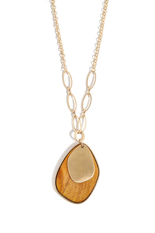 Wooden Charm Necklace
