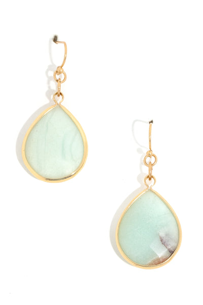 Simple Stone Drop Earrings