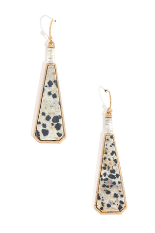 Dalmation Drop Earrings
