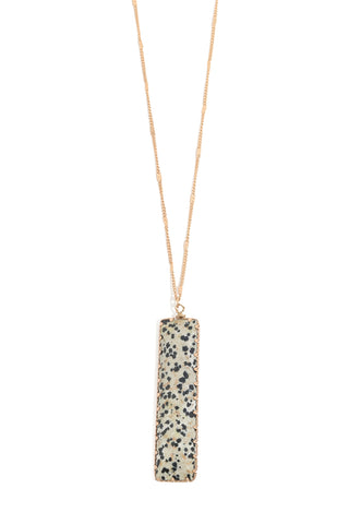 Dalmation Bar Pendant Necklace