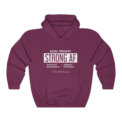 Goal Weight Strong AF Unisex Heavy Blend™ Hooded Sweatshirt