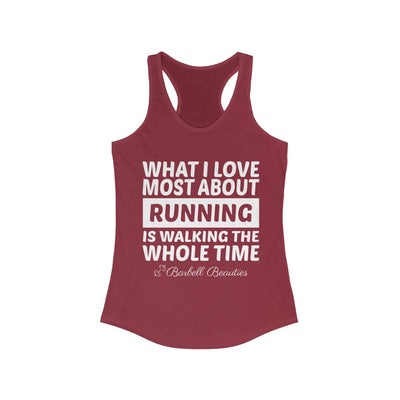What I Love About Running Women's Ideal Racerback Tank