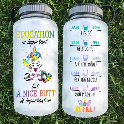 Education is Important Water Bottle