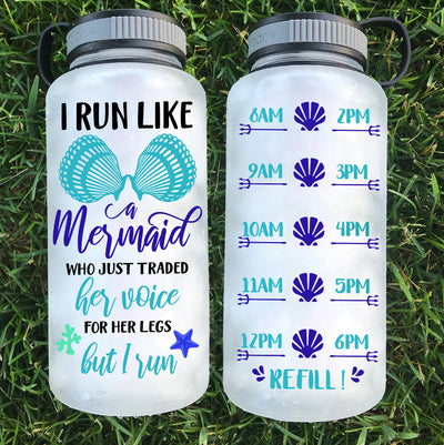 I Run Like A Mermaid Water Bottle