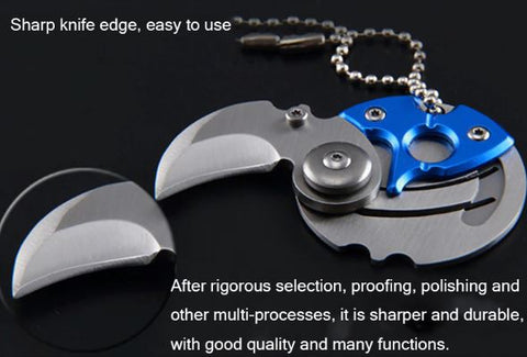 Coin Folding Knife Keychain
