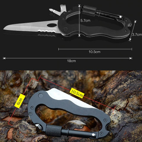 5 In 1 Carabiner Self Defense Multi Tool