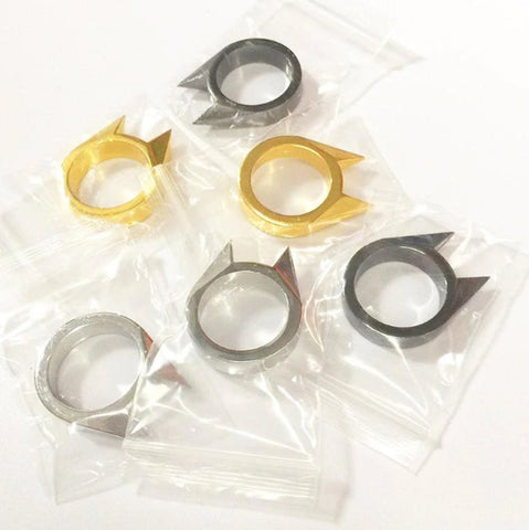 Image of Cat Ear Shape Self-Defense Ring