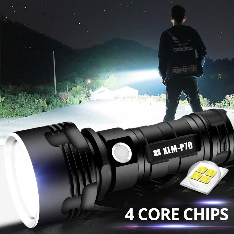 Super Powerful LED Flashlight For Camping