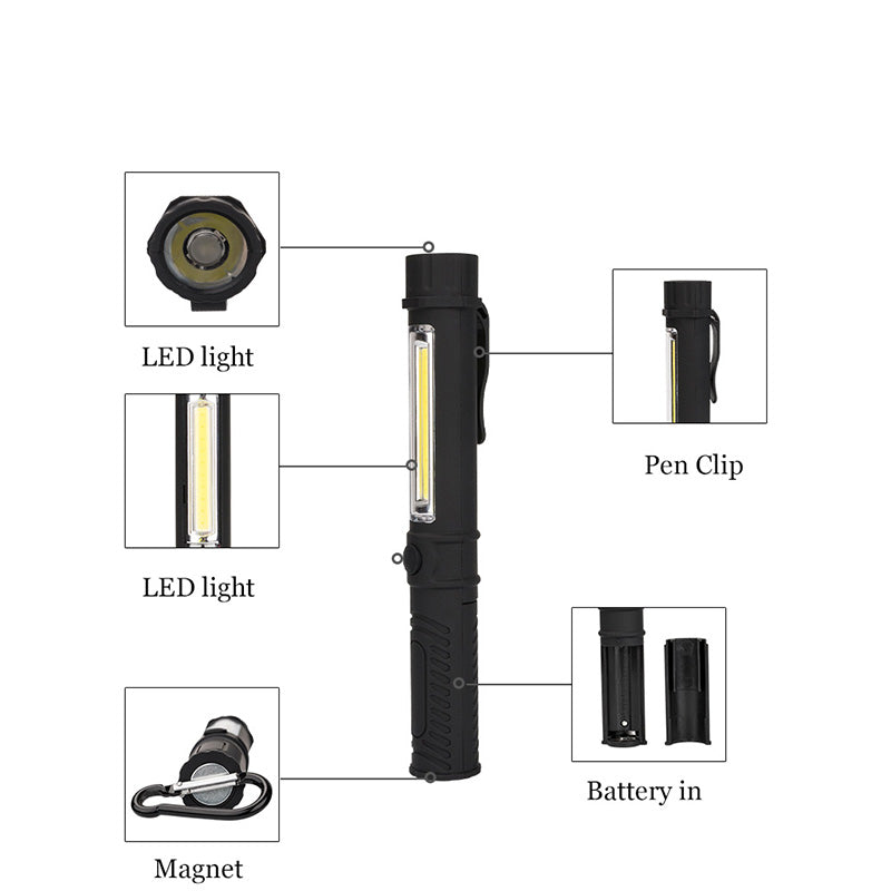Multi function COB LED Mini Pen Light
