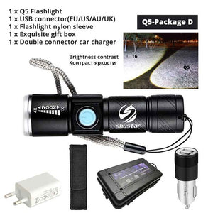Powerful LED Flashlight With Tail