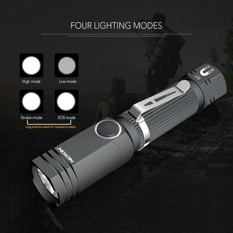 90 Degree Twist Rotary Clip Waterproof LED Torch