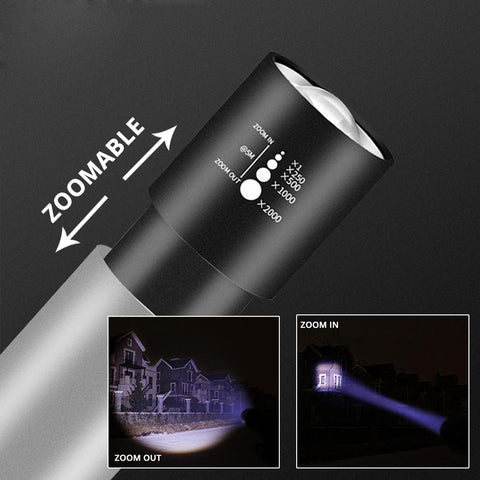 Image of USB Rechargable Mini LED Flashlight