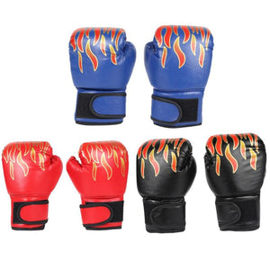Children Boxing Gloves Professional Flame Mesh