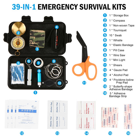 Image of Outdoor First Aid Essential Supplies Kit