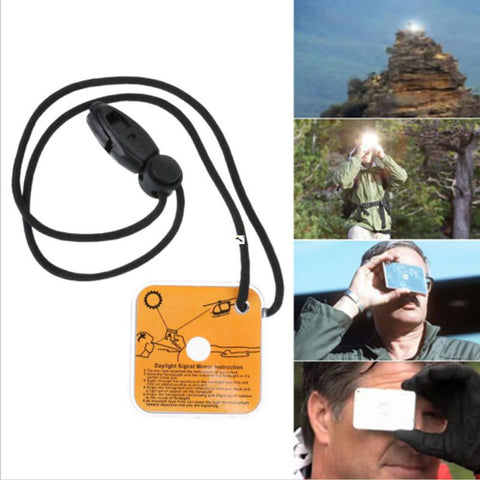 Image of Outdoor Reflective Survival Signal Mirror