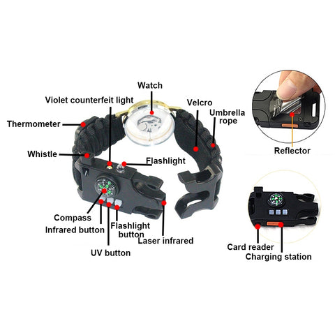 Image of Multi function Bracelet Field Survival Watch