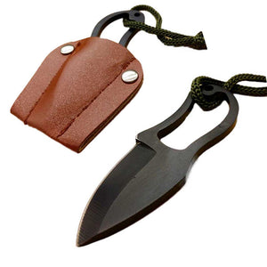 Mini Knife with Leather Cover