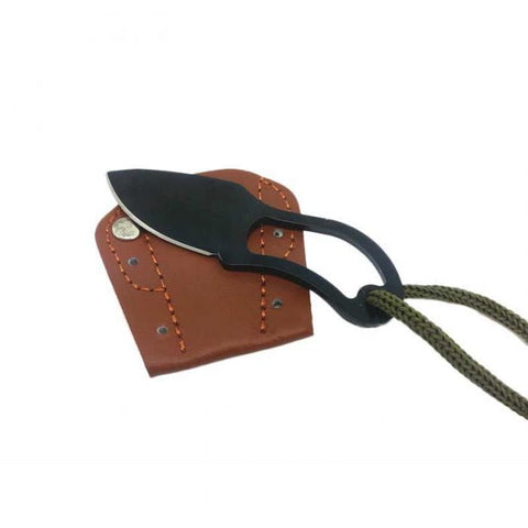 Image of Mini Knife with Leather Cover