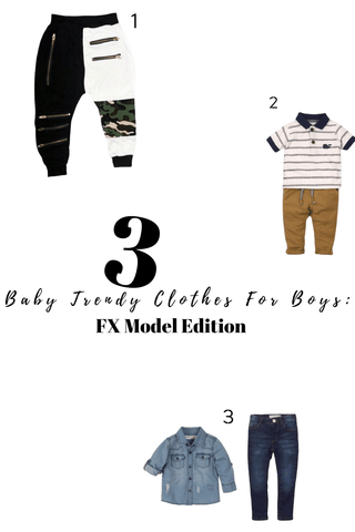 2 baby trendy clothes for boys