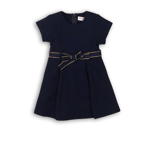 blue baby girl bow dress