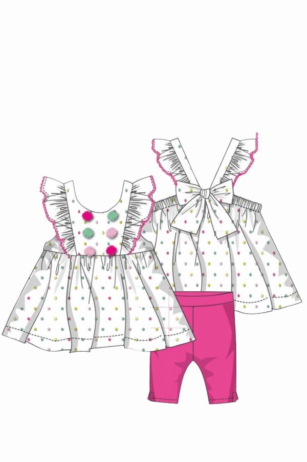 Baby Girl 2 piece Suntop and Legging Set