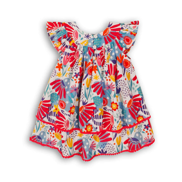 Baby Girl's 2-Piece Ruffle Floral Dress and Bloomers Set