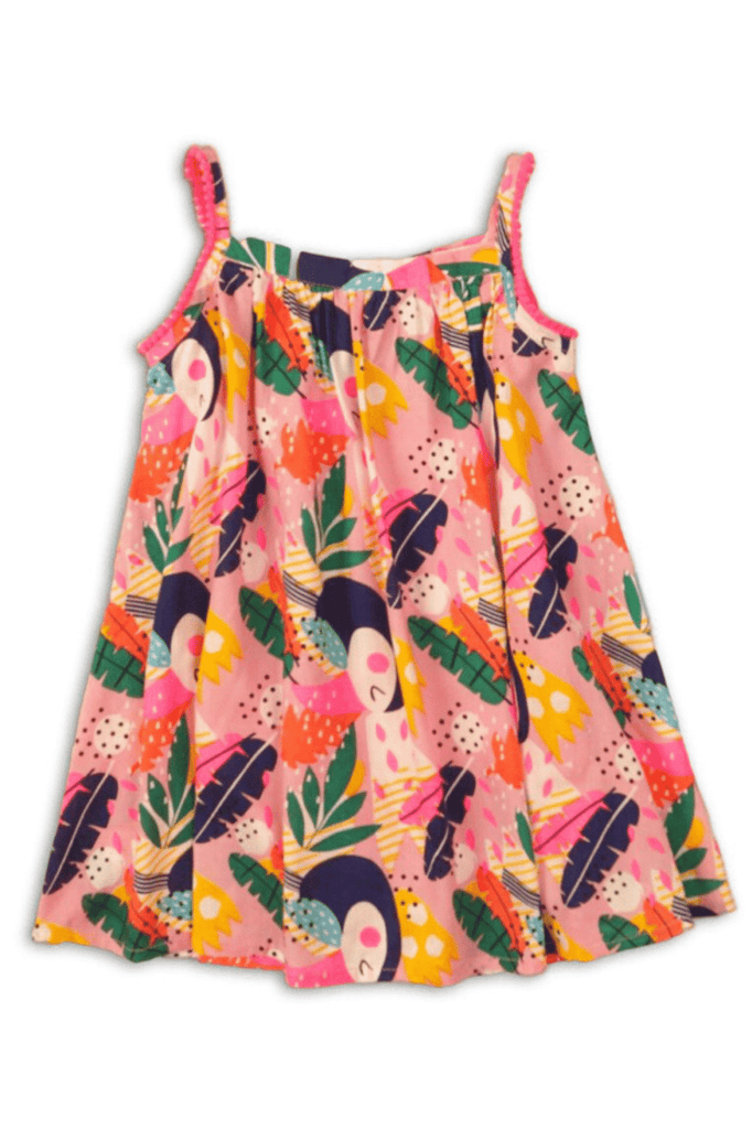 Baby Girls Sleeveless Tropical Floral Print dress