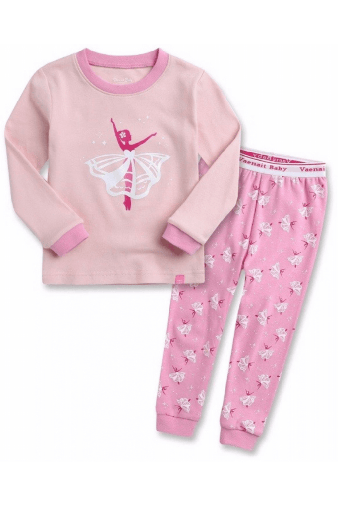 Ballerina Graphic Pajama Set for Toddler Girls & Baby