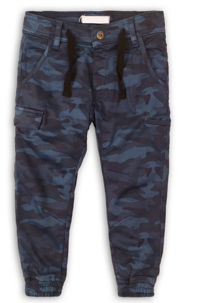 Blue Toddler Boy Camo Pants