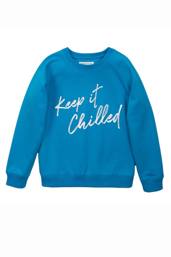 Toddler Boys' Fleece Crew Neck Sweatshirt | Turquoise