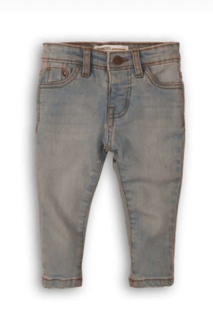 Boys Light-wash Regular Fit Denim Jeans