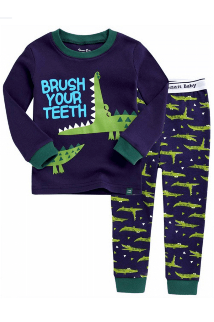 Crocodile  Pajama Set for Toddler Boys & Baby