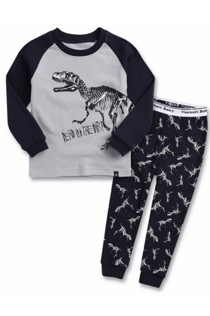 Dino-Graphic Pajama Set for Toddler Boys & Baby