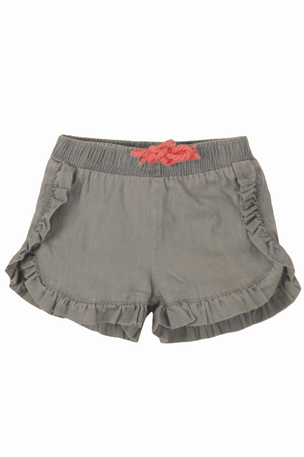 Girl's Ruffle Frill Chambray Shorts