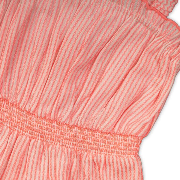 toddler Girls Stripe Neon Embroidered Romper