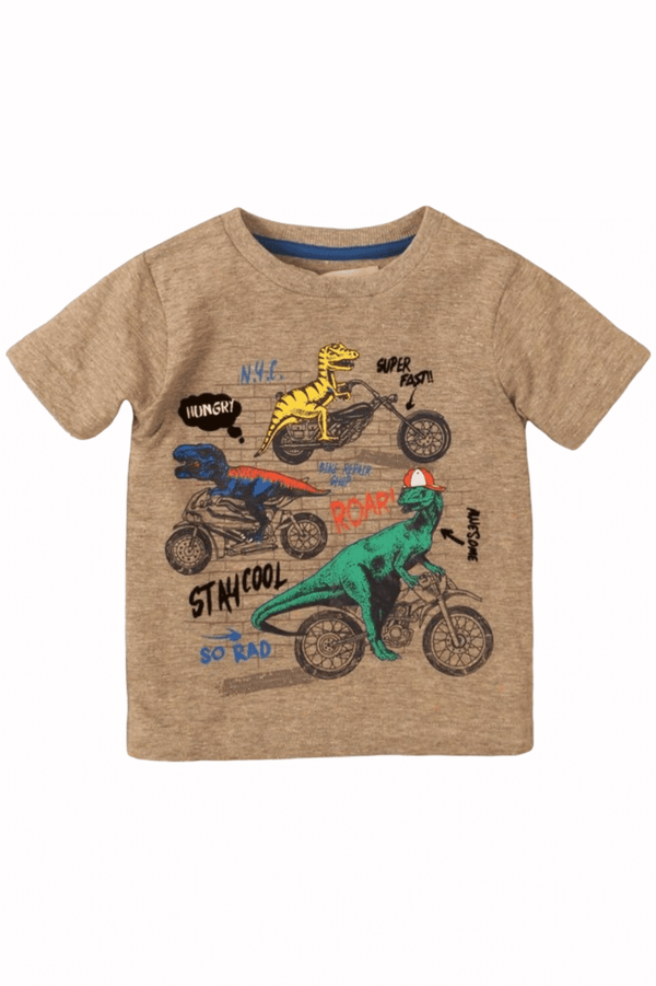 Graphic Short Sleeve Dinosaur Tee for Infant and Toddler | 9m -8years