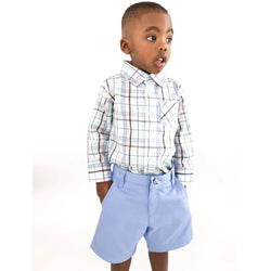 Buy Classic Blue Chinos for Baby Boy Online in USA - Cliqqclothing.com