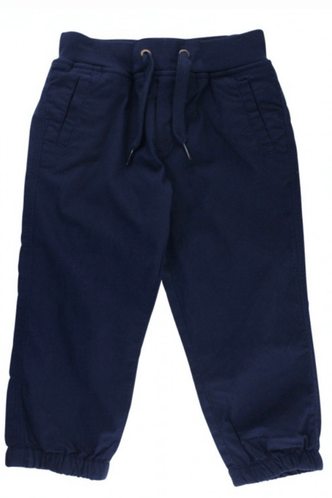 Infant and Toddler Navy Chino Jogger Pants