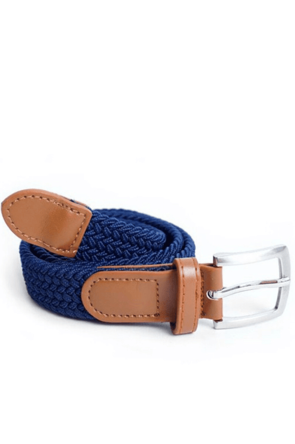 Kids Unisex Braided Stretch Belt - Blacks
